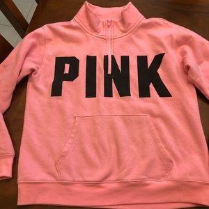 VS PINK 1/4 zip sweatshirt size Small